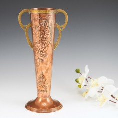 A Bradley and Co. Copper Vase The Sun Never Sets on The British Empire