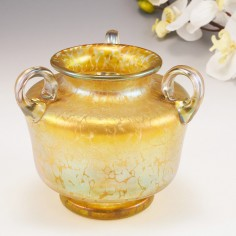 A Loetz Witwe Candia Papillon Vase c1900