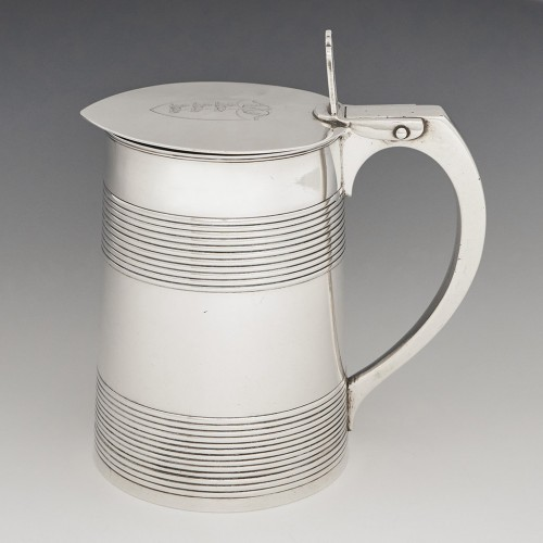 A Georgian Sterling Silver Quart Tankard London 1792
