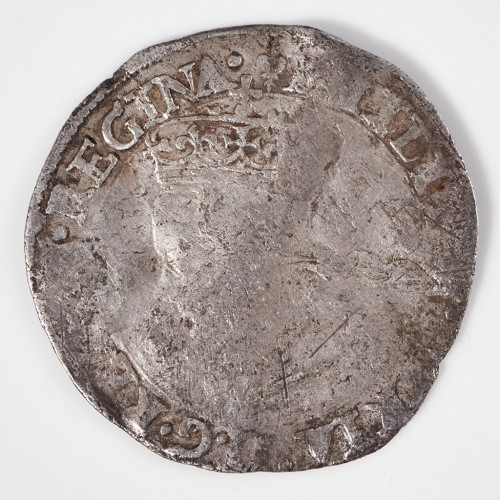 Mary I and Philip Silver Groat, Lis Initial Mark, 1554
