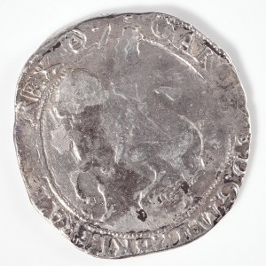 Charles I Silver Halfcrown, Triangle in Circle Mint Mark, Tower Mint Under the King, 1641-1643