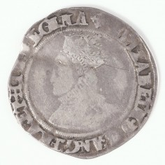 Scarce Elizabeth I Silver Shilling, Second Issue Cross Crosslet Mint Mark, 1560-1561