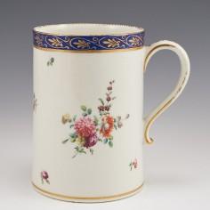 A Chelsea-Derby Porcelain Tankard c1780