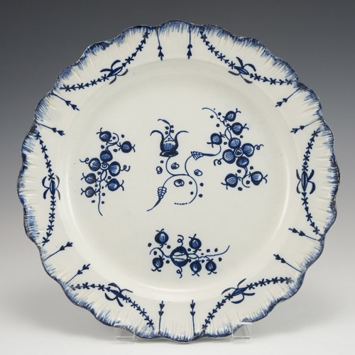Liverpool or Leeds Pearlware Blue and White Plate c1790