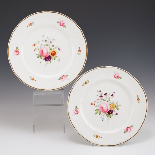 A Pair of Nantgarw Porcelain Plates 1813-22