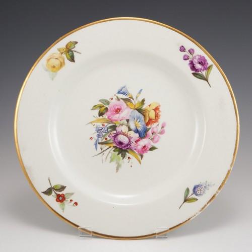 A Derby Duesbury Period Porcelain Plate c1810
