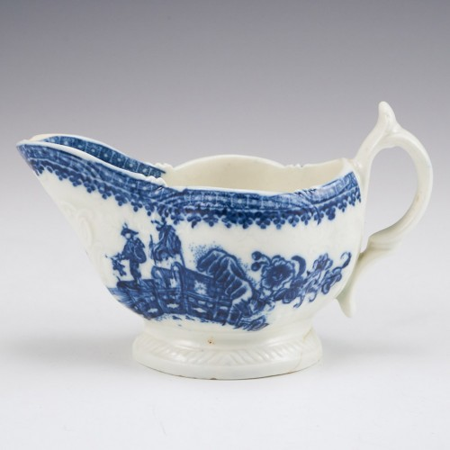 A Liverpool Porcelain Sauce Boat probably Seth Pennington c1785