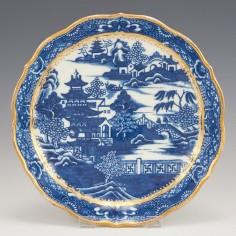 A Caughley Porcelain Saucer Dish c1780