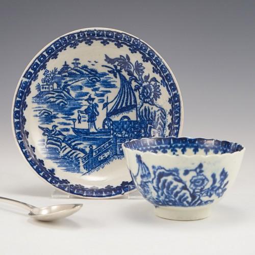 A Liverpool 'Seth Pennington' Porcelain Tea Bowl and Saucer c1785