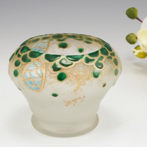 Legras Enamelled Vase c1910