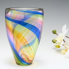 A Rainbow Open Vase by Siddy Langley 2021
