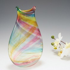 An Oval Rainbow Vase by Siddy Langley 2021