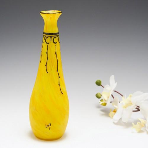 Vibrant Legras Bottle Vase c1920