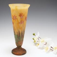 A Paul Daum Mado Nancy Glass Vase c1925
