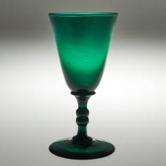 A Rare Georgian Green Wine Glass c1830