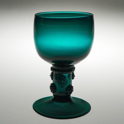 An English Lead Glass Roemer Hock Glass c1820