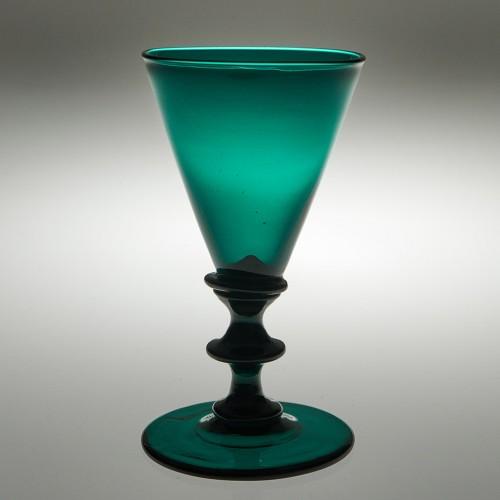 Late Georgian Green Wine Glass c1830