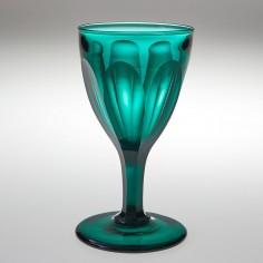 A Slice Cut Teal Wine Glass 1825-50