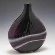 A Large Amethyst Art Glass Botte Vase