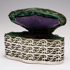 A Sterling Silver Ring Box Birmingham 1903