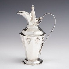 Sterling Silver Arts and Crafts Silver Jug and Cover by Charles Edwards London 1904