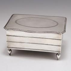 Sterling Silver Jewellery Box Sheffield 1920