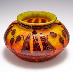 A Schneider Campanules Glass Bowl c1924
