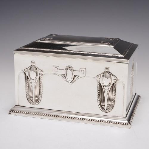 A WMF Silver Plated Jugendstil Cigar Box c1900