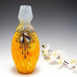 A Legras Enamelled Vase c1925