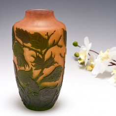 A D'Argental Cameo Glass Vase c1925