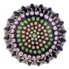 A Perthshire PP53 Fluted Concentric Paperweight 1982-95