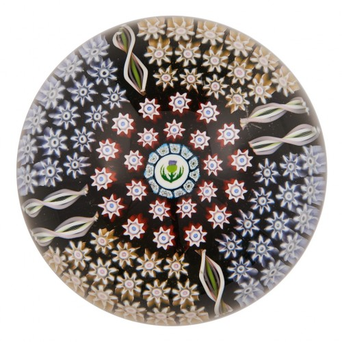 A Perthshire PP156 Radial Concentric Paperweight 1994-7