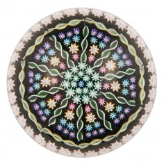 A Perthshire PP1 Radial Ring Twist Paperweight 1982-97