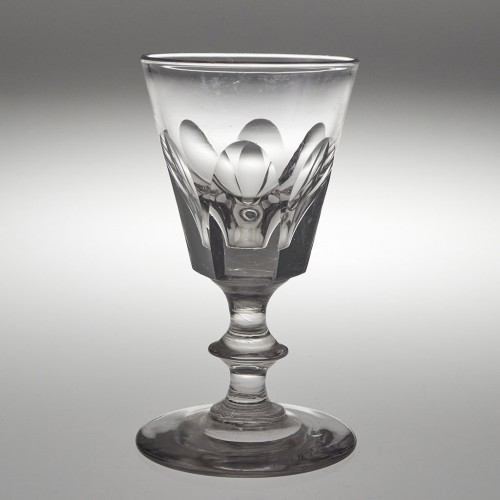 A Victorian Bucket  Bowl Deceptive Dram Glass c1840