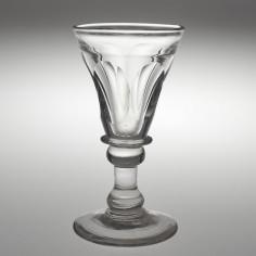 A Petal Cut Deceptive Dram Glass c1835