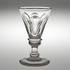 A Large Petal Cut Deceptive Toastmasters Glass c1835