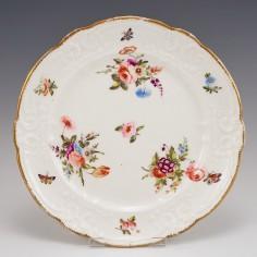 A Nantgarw Porcelain Plate With Moulded Rim 1813-22