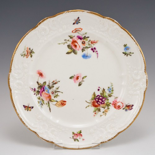 A Nantgarw Porcelain Plate With Moulded Rim 1813-22