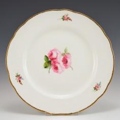 Nantgarw Porcelain Plate Decoration Attributed to William Billingsley