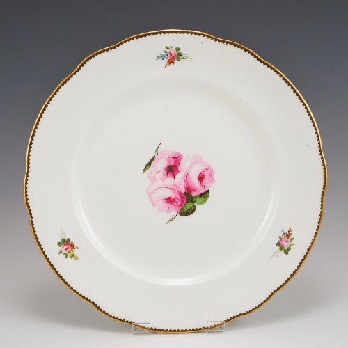 A Nantgarw Porcelain Plate Attributed to William Billingsley 1813-20