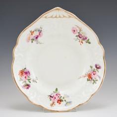 A Nantgarw Porcelain Shell Shaped Dish c1820