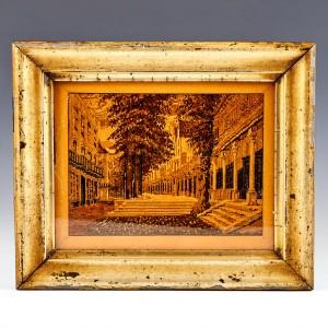 Tunbridge Ware Framed Image of The Parade (aka The Pantiles); Henry Hollamby c 1875