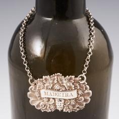 Cast Sterling Silver Decanter Label Birmingham 1827