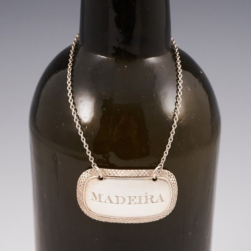 Sterling Silver Madeira Decanter Label Birmingham 1837