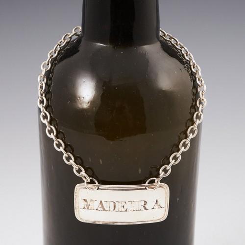Sterling Silver Madeira Decanter Label Birmingham 1837