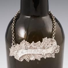 Sterling Silver Maderia Decanter Label Birmingham 1858