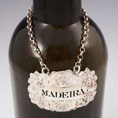 Sterling Silver Madeira Bottle Ticket London 1817