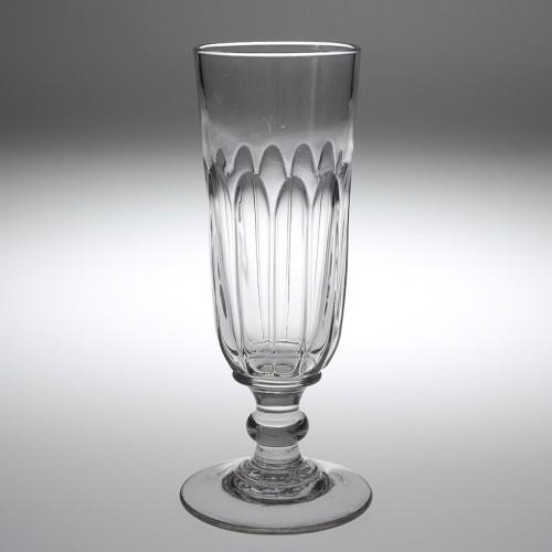 A Sunderland Petal Moulded Tall Ale Glass c.1860