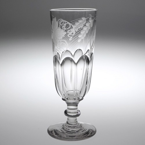 An Engraved Victorian Ale Glass c1860