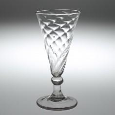 A Georgian Wrythen Ale Glass c1780
